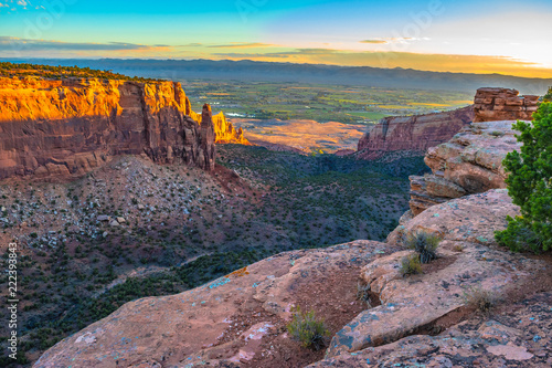 Beautiful Sunrise Hike at the Colorado National Monument in Grand Junction, Colorado