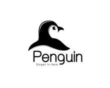 Head Penguin View Back Logo Art