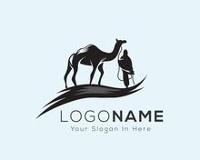 Nomad Camel With Man Art Logo