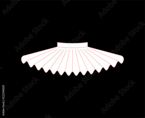 Obraz na plátně Ballet tutu isolated. Skirt of ballerina. vector illustration