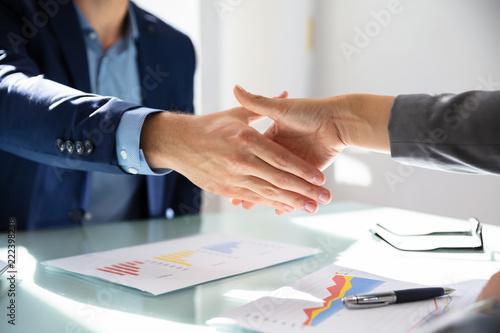 Fotografía  Businessman Shaking Hands With His Partner
