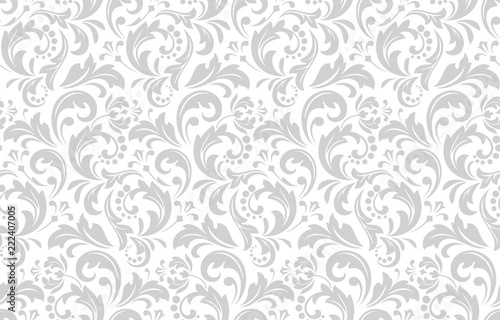 Floral Pattern Vintage Wallpaper In The Baroque Style