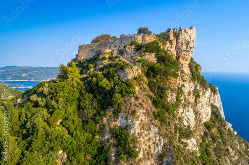 Old ruins of Angelokastro fortress, Corfu island, Greece Canvas