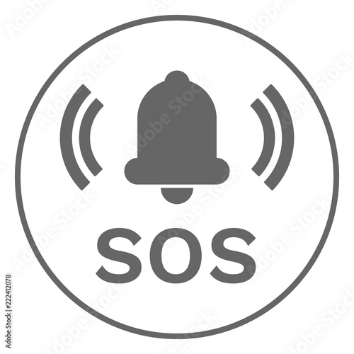 SOS button. Vector. Tapéta, Fotótapéta