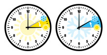 Zeitumstellung Uhren Symbole Z...