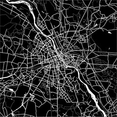 Fototapeta Do biura Area map of Warsaw, Poland