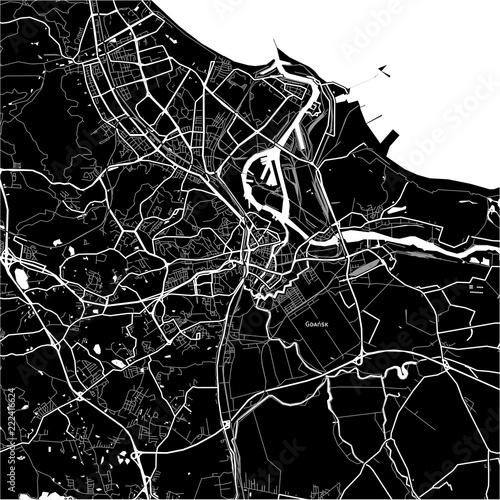 Photo Area map of Gdańsk, Poland