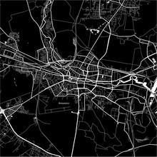 Area Map Of Bydgoszcz, Poland