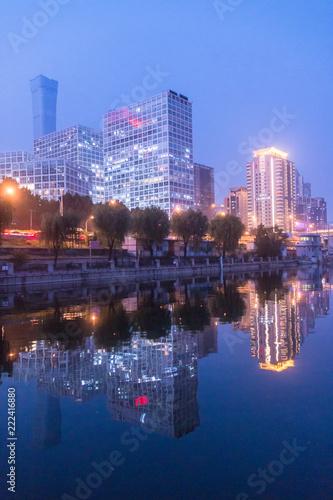 Keuken foto achterwand Stad gebouw Beijing, China, CBD night landscape