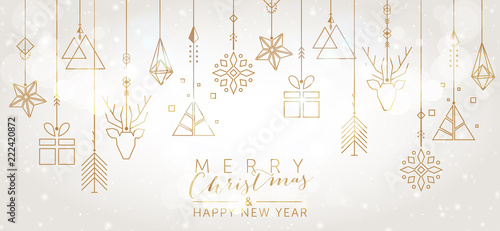 Fotografia Christmas and New Year background with geometric elements