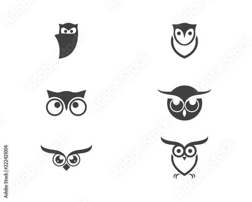 Keuken foto achterwand Uilen cartoon owl bird illustration