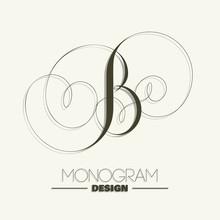 Elegant Monogram Design - Letter B