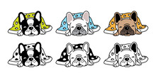 Dog Vector French Bulldog Icon...