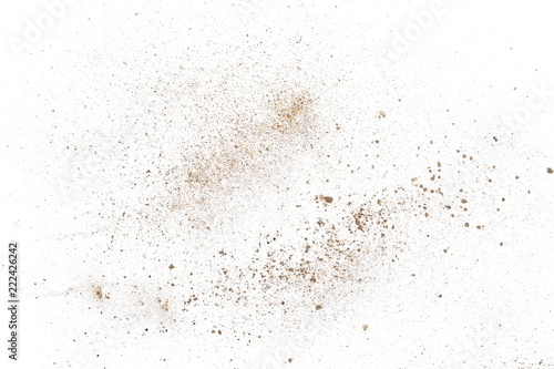 Dirt dust isolated on white background and texture, top view Poster Mural XXL
