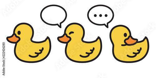 Slika na platnu duck vector icon logo cartoon character rubber duck  illustration bird farm anim