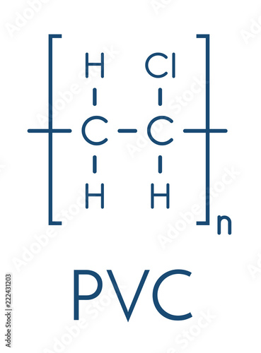 Poly Vinyl Chloride Plastic Pvc Chemical Structure