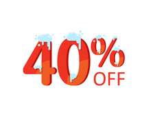A Discount Of Forty Percent. W...
