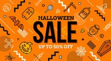 Halloween Sale Banner. Pattern...