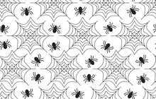 Spider Seamless Pattern For Te...