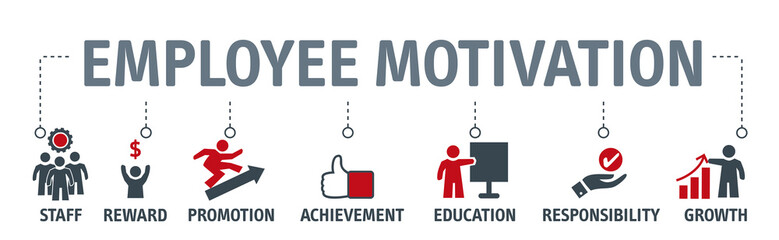 Employee motivation vector illustration business management strategy