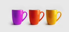 Three Ceramic Mugs. Cups For C...