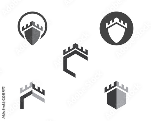Tablou Canvas Castle vector illustration icon