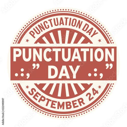 Vászonkép Punctuation Day, September 24