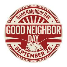 Good Neighbor Day, September 28