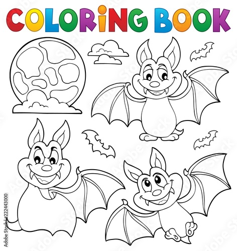 Wall Murals For Kids Coloring book bats theme collection 1