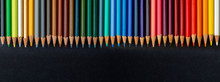 Colored Pencils Texture. Foreg...