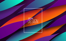 Modern Minimal Cover Design. Vector Abstract Banner With Dynamic Gradient Petal Shapes. 3d Layered Paper Poster. Business Presentation, Ad Banner Or Brochure Template