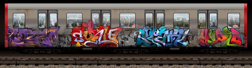 Boston Redline Graffiti Train