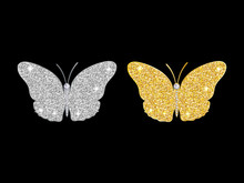 Set Of Shining Butterflies Of ...