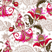 Seamless Pattern With Embroide...