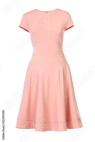 Billede på lærred Peach dress isolated on white