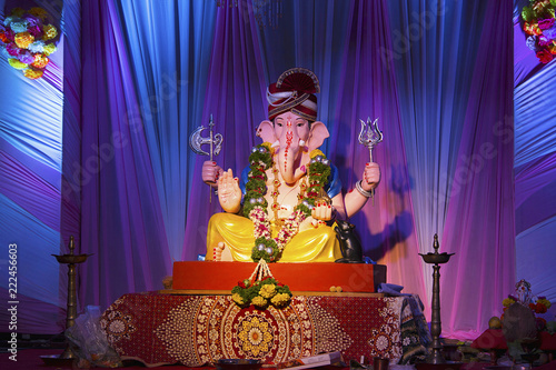 Obraz na plátně Lord Ganesha, Ganesh Festival, Pune, India
