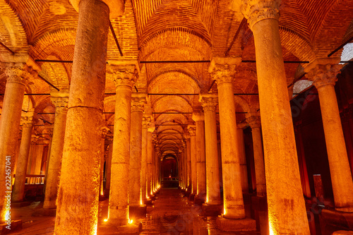Photo  The Basilica Cistern in Istanbul