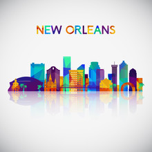 New Orleans Skyline Silhouette...