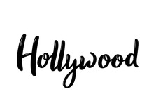 Hollywood Lettering.Black And ...