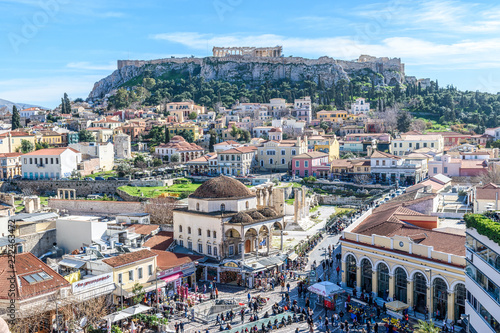 Poster Athenes Panoramic view of the Acropolis of Athens. Greece.