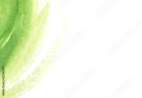 Bright green waves abstract background, abstract watercolor hand painted background