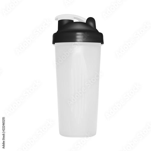 Shaker for protein shakes in vector on white background. Wallpaper Mural