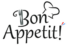 Bon Appetit! Slogan With A Che...