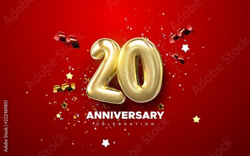 20th Anniversary celebration Canvas Print