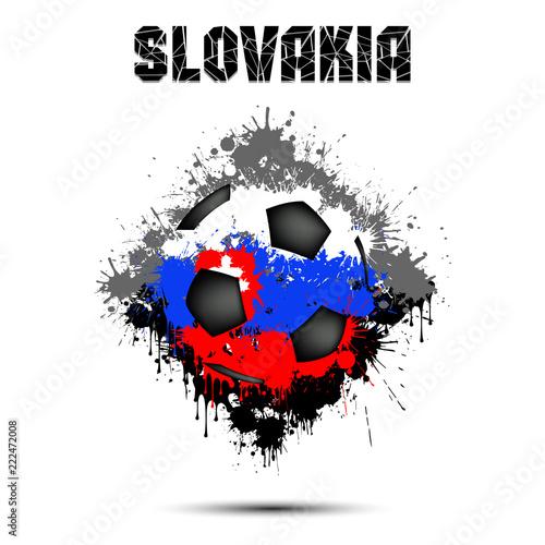 Papiers peints Visage de femme Soccer ball in the color of Slovakia