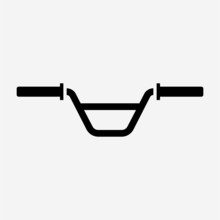 Outline Beautiful Bicycle Handlebar Vector Icon
