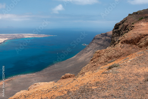 Spoed Foto op Canvas Zalm mirador del rio, lanzarote canary islands