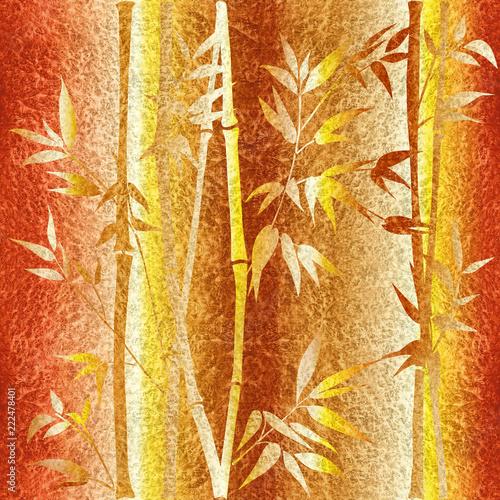 dekoracyjne-galezie-bambusa-tapeta-wewnetrzna-bezszwowe-tlo-pomaranczowo-zolty-powierzchni