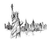Fototapeta Nowy York - New York hand drawn