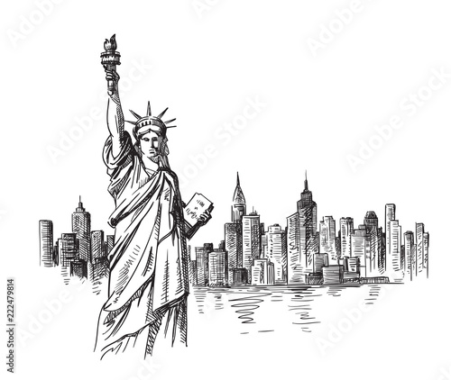 New York hand drawn - 222479814